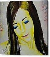 Portrait In Yellow Acrylic Print