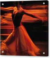 Portrait Of A Ballet Dancer Bathed Acrylic Print