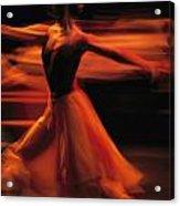Portrait Of A Ballet Dancer Bathed Acrylic Print by Michael Nichols