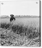 Portrait Of A Jewish Settler In A Field Acrylic Print