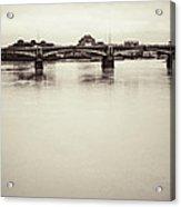 Portrait Of A London Bridge Acrylic Print