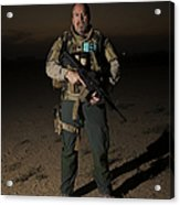 Portrait Of A U.s. Contractor Acrylic Print