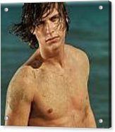Portrait Of A Young Man On A Sea Shore Acrylic Print