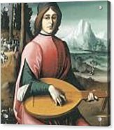 Portrait Of A Young Man With A Lute Acrylic Print