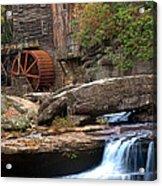 Portrait Of Glade Creek Mill Acrylic Print