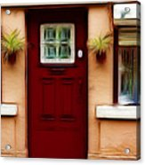 Portugal Red Door Acrylic Print