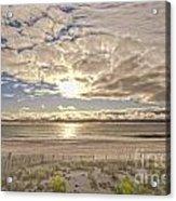 Post-tourist Sunrise Ocean City Acrylic Print