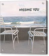 Poster Missing You Acrylic Print