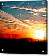 Poster Sunset Acrylic Print