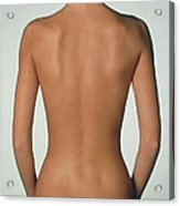 Posterior View Of The Torso Of A Standing Woman Acrylic Print