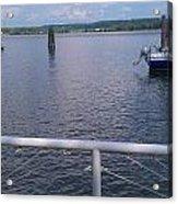 Potomac River Dock Acrylic Print
