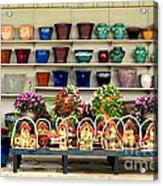 Pots And Birdhouses Acrylic Print