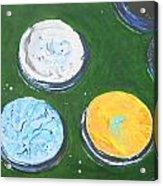 Pots Of Paint Acrylic Print