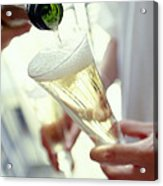 Pouring Champagne Acrylic Print by David Munns