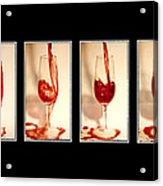 Pouring Red Wine Acrylic Print by Svetlana Sewell