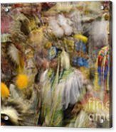 Pow Wow Color Acrylic Print