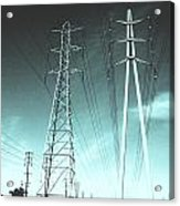 Power Lines Acrylic Print by Jay Reed