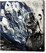 Power Of Prayer With Hasid Reading And Hebrew Letters Rising In A Spiritual Swirl Up To Heaven Acrylic Print