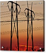 Power Towers At Sundown Acrylic Print