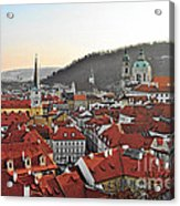 Prague - A Story Told By Rooftops Acrylic Print by Christine Till