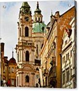 Prague - St. Nicholas Church Lesser Town Acrylic Print by Christine Till