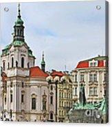 Prague - St Nicholas Church Old Town Square Acrylic Print