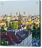 Prague And St Charles Bridge Acrylic Print