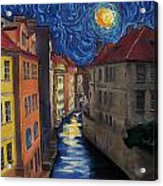Prague By Moonlight Acrylic Print