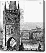 Prague: Carlsbridge Acrylic Print