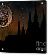 Prague Casle - Cathedral Of St Vitus - Monuments Of Mysterious C Acrylic Print by Michal Boubin