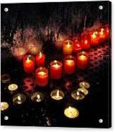 Prague Church Candles Acrylic Print by Stelios Kleanthous
