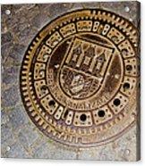 Prague Manhole Cover Acrylic Print