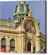 Prague Obecni Dum - Municipal House Acrylic Print by Christine Till