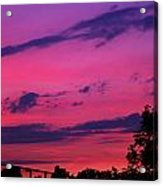 Prague Sunset Acrylic Print