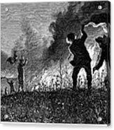 Prairie Fire, 1874 Acrylic Print