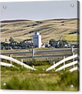 Prairie Town With Elevator Acrylic Print
