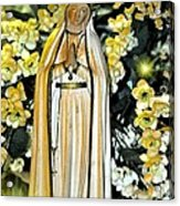 Pray For Us Acrylic Print