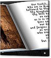 Prayer Book Acrylic Print