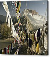 Prayer Flags Hang In The Breeze Acrylic Print