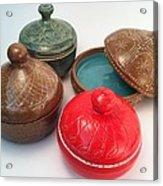 Prayer Pots Acrylic Print by Carolyn Coffey Wallace