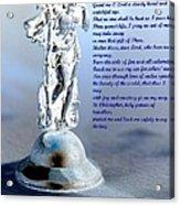Prayer To St Christopher Acrylic Print
