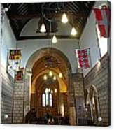 Praying At The St Mary Church Inside Dover Castle In England Acrylic Print