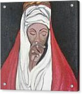 Praying Woman-oil Painting Acrylic Print by Rejeena Niaz