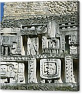Pre-columbian Stone Ruin With Relief Acrylic Print