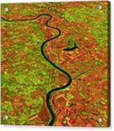 Pre-flood Missouri River Acrylic Print