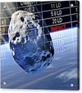 Predicting Asteroid Impact, Artwork Acrylic Print by Detlev Van Ravenswaay