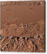 Prehistoric Schiaparelli Crater, Artwork Acrylic Print