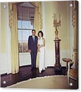 President And Jacqueline Kennedy Acrylic Print