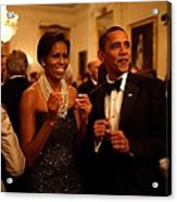 President And Michelle Obama Applaud Acrylic Print
