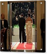 President And Michelle Obama Face Acrylic Print